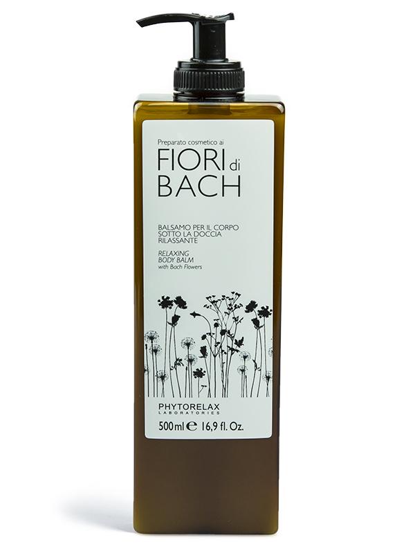 balsamo corpo rilassante sotto la doccia fiori di bach