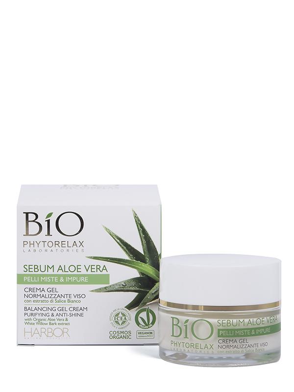 crema gel normalizzante viso bio phytorelax sebum aloe vera