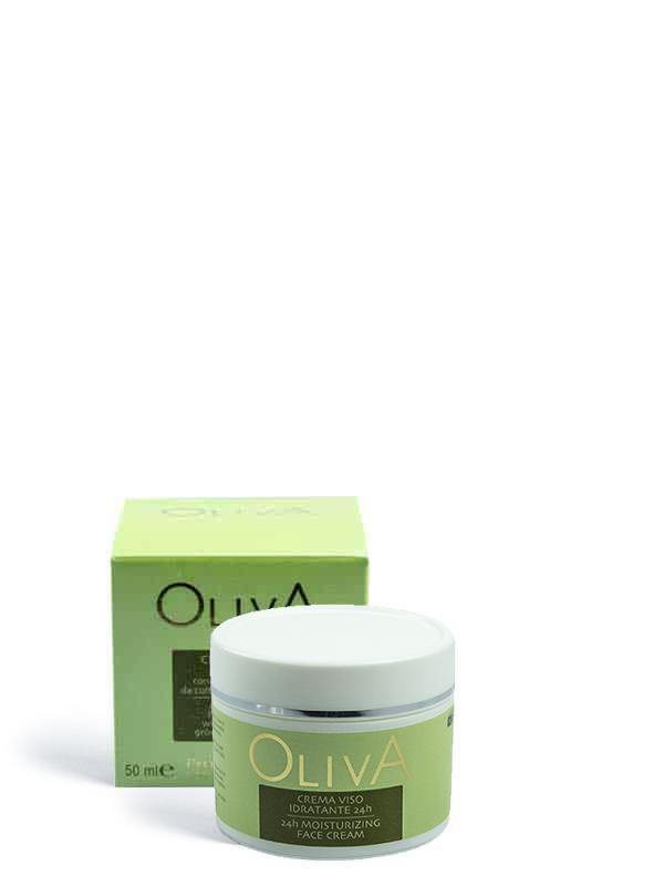 crema viso idratante 24h oliva