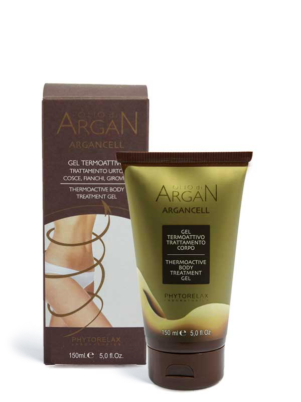 gel termoattivo trattamento corpo olio di argan