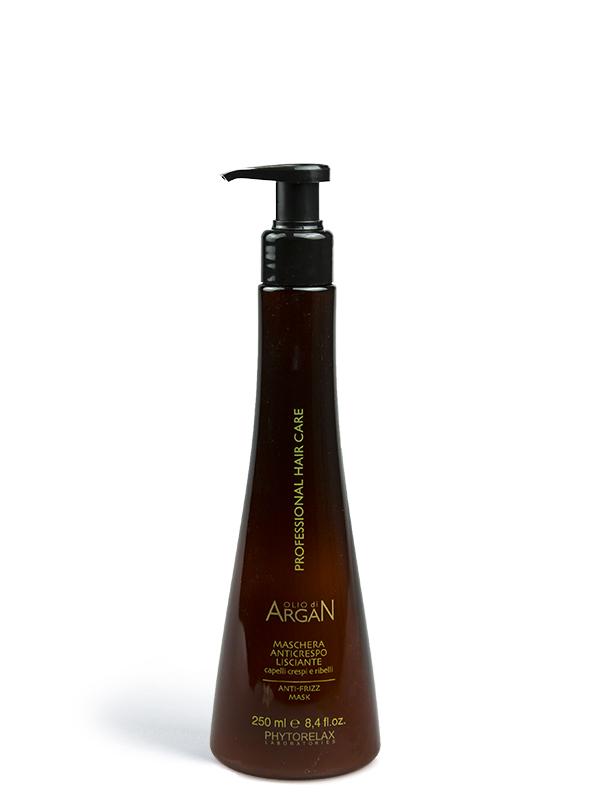 maschera anticrespo lisciante olio di argan professional hair care 250ml