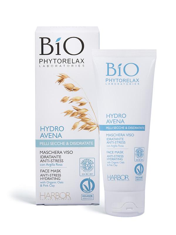 maschera viso idratante anti stress bio phytorelax hydro avena