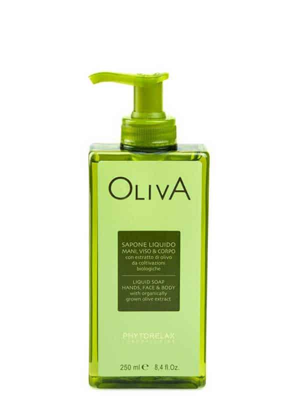 sapone liquido mani viso corpo oliva