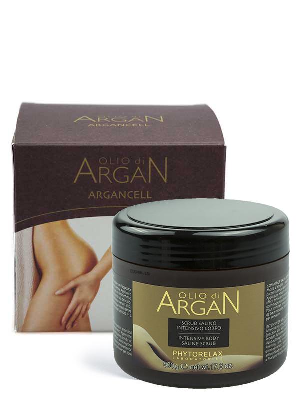scrub salino intensivo corpo olio di argan