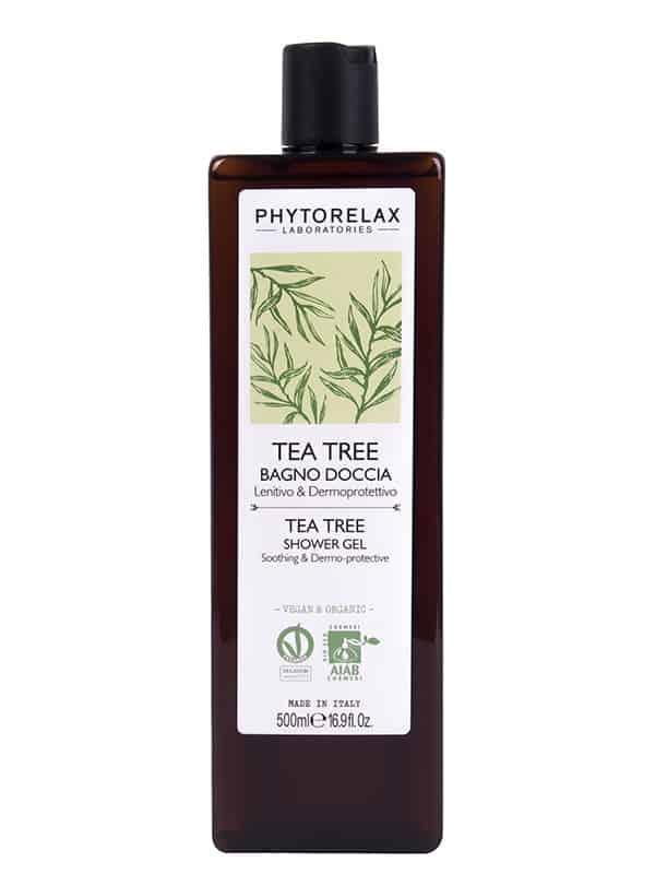 tea tree bagno doccia lenitivo dermoprotettivo