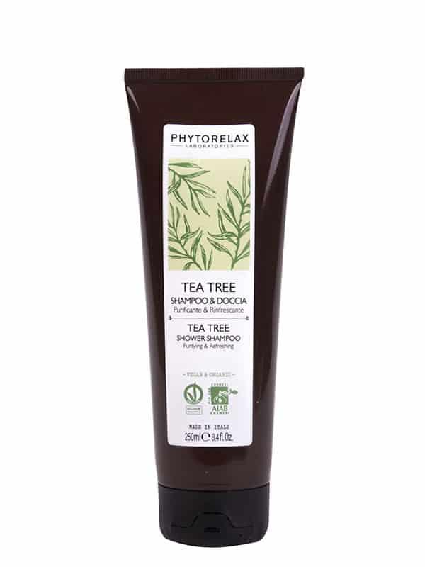 tea tree shampoo doccia purificante rinfrescante