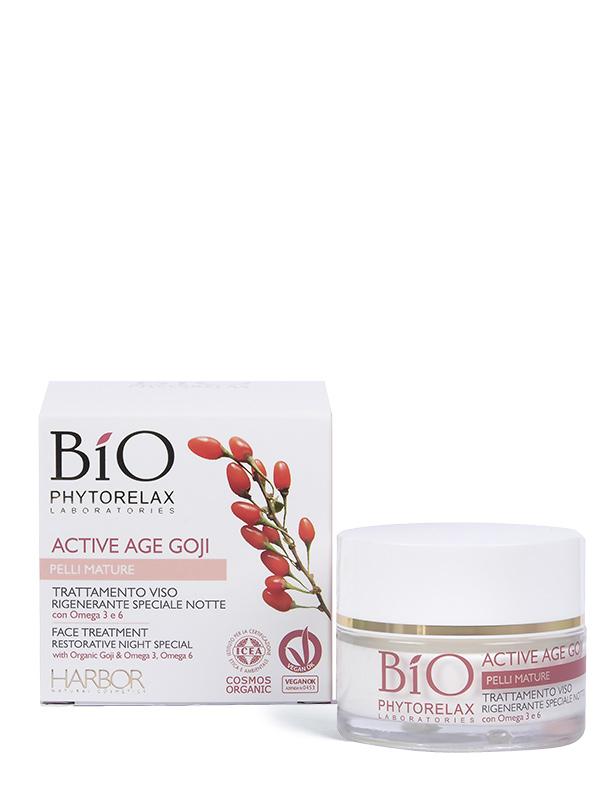 trattamento viso rigenerante speciale notte bio phytorelax active age goji