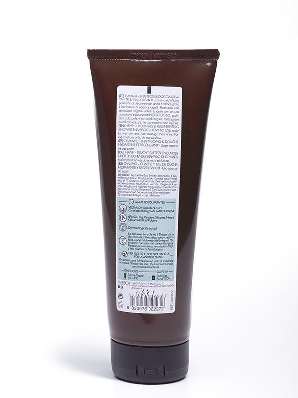 canapa shampoo doccia idratante rigenerante retro