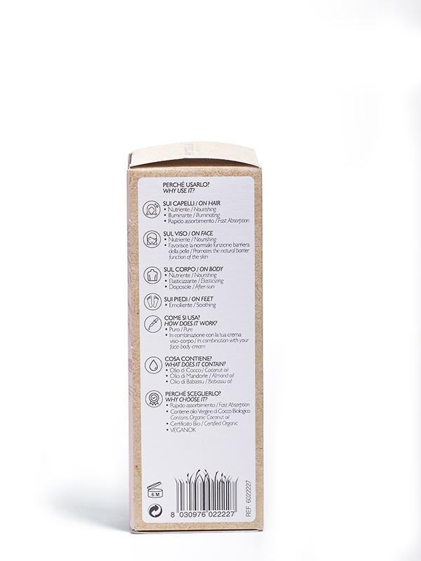 cocco olio secco multiuso visocorpo capelli nutriente riparatore retro