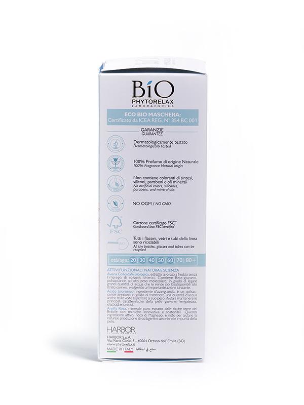 maschera viso idratante anti stress bio phytorelax hydro avena retro