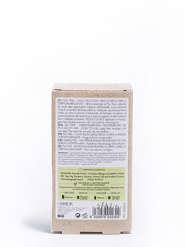 tea tree olio multiuso viso corpo capelli dermopurificante retro