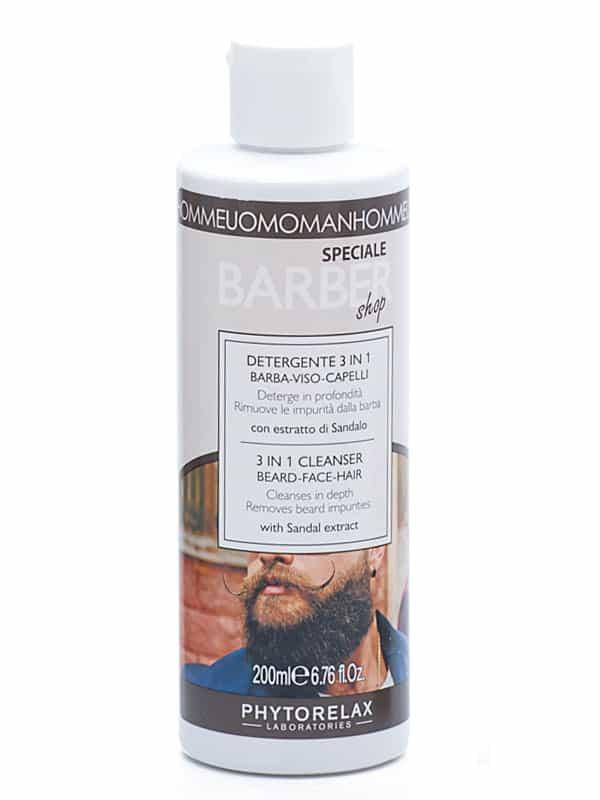 detergente 3 in 1 barba viso capelli